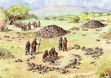 Bronze Age burial cairn